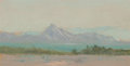 Works on Paper, Frank Reaugh (American, 1860-1945). Sharp Peak. Pastel on paper. 3-1/2 x 6-3/4 inches (8.9 x 17.1 cm) (sight). ...