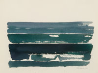Kelly Fearing (American, 1918-2011) Set of Five Works from the Aegean Sea Series, 1965-1970 Watercol
