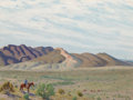 Fine Art - Painting, American, Fred Darge (American, 1900-1978). Looking For Cattle, Big Bend Country, Texas. Oil on canvasboard. 9 x 12 inches (22.9 x...