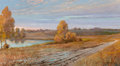 Fine Art - Painting, American, Franz Strahalm (American, 1879-1935). After the Rain. Oil on canvas. 20 x 30 inches (50.8 x 76.2 cm). Signed lower right...
