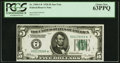 Fr. 1950-G* $5 1928 Federal Reserve Note. PCGS Choice New 63PPQ
