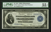Fr. 754 $2 1918 Federal Reserve Bank Note PMG About Uncirculated 55 EPQ