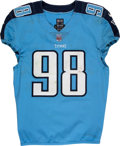 Football Collectibles:Uniforms, 2017 Brian Orakpo Game Worn, Unwashed & Signed Tennessee Titans Jersey. ...
