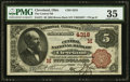 National Bank Notes:Ohio, Cleveland, OH - $5 1882 Brown Back Fr. 471 The Central National Bank Ch. # (M)4318 PMG Choice Very Fine 35.. ...