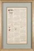 Miscellaneous:Broadside, Daily Intelligencer Extra Broadside Covering the Surrender of Robert E. Lee....