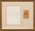 Autographs:Military Figures, Robert E. Lee Signed Carte de Visite with Fair Copy of Lee's Appomattox Letter of Surrender to Grant. ...