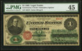 Large Size:Legal Tender Notes, Fr. 16 $1 1862 Legal Tender PMG Choice Extremely Fine 45.. ...