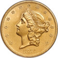 1854-S $20 -- Sea Salvaged -- ANACS. MS60 Details