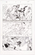 Original Comic Art:Panel Pages, John Romita Jr. and Scott Hanna Avengers vs. X-Men #4 Page 9 Captain America, Wolverine, and Others Original Art (...