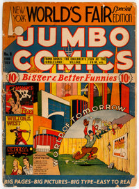 Jumbo Comics #8 (Fiction House, 1939) Condition: PR