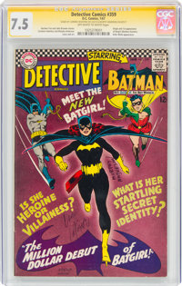 Detective Comics #359 (DC, 1967) CGC Signature Series VF- 7.5 Off-white to white pages