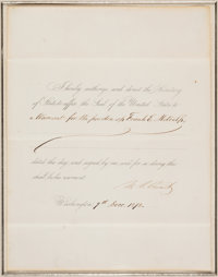 Ulysses S. Grant Affix the Seal Document Signed