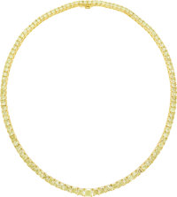 Colored Diamond, Gold Necklace