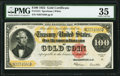 Fr. 1215 $100 1922 Gold Certificate PMG Choice Very Fine 35