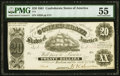 Confederate Notes:1861 Issues, T9 $20 1861 PMG About Uncirculated 55.. ...