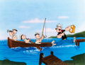 """Animation Art:Limited Edition Cel, Popeye and Nephews """"Gone Fishing"""" Signed Limited Edition Cel, #41/250 (King Features Syndicate/Fleischer, 1991). ..."""