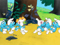 Animation Art:Production Cel, Smurfs Vanity Smurf and Friends Prod...