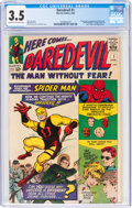 Silver Age (1956-1969):Superhero, Daredevil #1 (Marvel, 1964) CGC VG- 3.5 Cream to off-white pages....