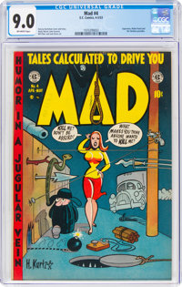 MAD #4 (EC, 1953) CGC VF/NM 9.0 Off-white pages