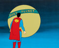 Animation Art:Production Cel, Super Friends Superman Production Cel Setup (Hanna-Barbera, c. 1970s-1980s). ...