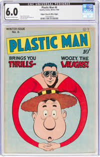 Plastic Man #6 Mile High Pedigree (Quality, 1947) CGC FN 6.0 Off-white to white pages
