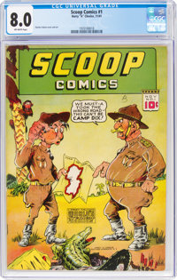 Scoop Comics #1 (Chesler, 1941) CGC VF 8.0 Off-white pages
