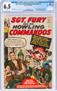 Sgt. Fury and His Howling Commandos #1 (Marvel, 1963) CGC FN+ 6.5 Off-white pages