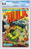 Bronze Age (1970-1979):Superhero, The Incredible Hulk #180 (Marvel, 1974) CGC VF 8.0 Cream to off-white pages....