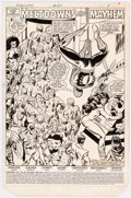 Original Comic Art:Splash Pages, Al Milgrom and Joe Sinnott Avengers #237 Story Page 1 Original Art (Marvel Comics, 1983)....