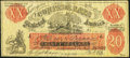 Confederate Notes:1861 Issues, CT-XXI $20 1861 Female Riding Deer Bogus Note Back F Fine.. ...
