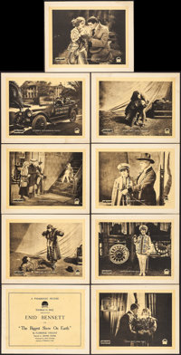 "The Biggest Show on Earth (Paramount, 1918). Fine/Very Fine. Lobby Card Set of 9 (11"" X 14""). Drama. ... (Tota..."