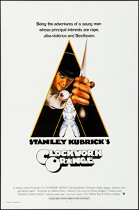 "A Clockwork Orange (Warner Bros., 1971). Flat Folded, Very Fine-. International One Sheet (27"" X 41""). Philip..."