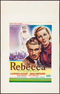 """Movie Posters:Hitchcock, Rebecca (United Artists, R-1950s). Folded, Very Fine-. Belgian (14"""" X 22""""). Hitchcock.. ..."""