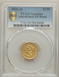Liberty Quarter Eagles, 1841-D $2 1/2 -- Altered Surfaces -- PCGS Genuine. XF Details. Variety 2-C....