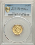 Liberty Quarter Eagles, 1848-D $2 1/2 -- Cleaned -- PCGS Genuine. AU Details. Variety 10-N....