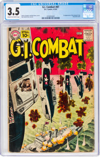 G.I. Combat #87 (DC, 1961) CGC VG- 3.5 Cream to off-white pages