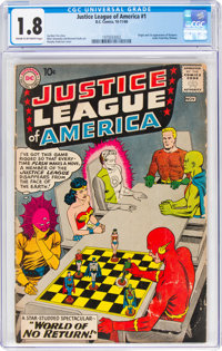 Justice League of America #1 (DC, 1960) CGC GD- 1.8 Cream to off-white pages