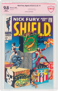 Nick Fury, Agent of S.H.I.E.L.D. #1 Verified Signature (Marvel, 1968) CBCS NM/MT 9.8 White pages