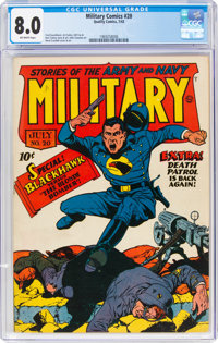 Military Comics #20 (Quality, 1943) CGC VF 8.0 Off-white pages