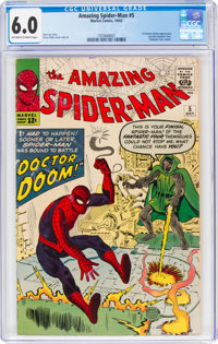 The Amazing Spider-Man #5 (Marvel, 1963) CGC FN 6.0 Off-white to white pages