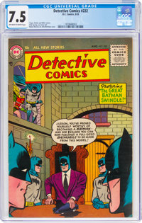 Detective Comics #222 (DC, 1955) CGC VF- 7.5 Off-white to white pages