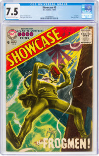 Showcase #3 The Frogmen (DC, 1956) CGC VF- 7.5 Off-white to white pages