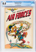 Golden Age (1938-1955):War, The American Air Forces #2 Double Cover (Wm. H. Wise & Co., 1944) CGC VF 8.0 Cream to off-white pages....