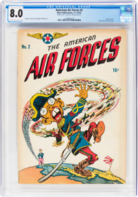 The American Air Forces #2 Double Cover (Wm. H. Wise & Co., 1944) CGC VF 8.0 Cream to off-white pages