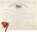 Autographs:U.S. Presidents, Chester Arthur Postmaster Appointment Signed ...