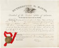 Autographs:U.S. Presidents, Rutherford B. Hayes Postmaster Appointment Signed ...