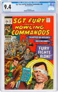 Bronze Age (1970-1979):War, Sgt. Fury and His Howling Commandos #89 (Marvel, 1971) CGC NM 9.4 Off-white to white pages....