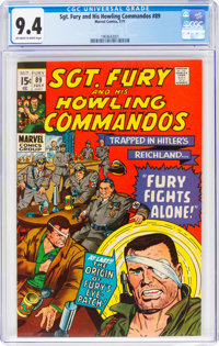 Sgt. Fury and His Howling Commandos #89 (Marvel, 1971) CGC NM 9.4 Off-white to white pages