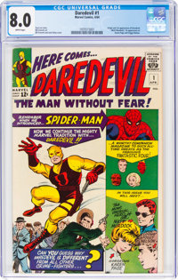 Daredevil #1 (Marvel, 1964) CGC VF 8.0 White pages