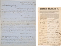 [Civil War-Horace Greeley]. William Cornell Jewett, Archive Relating Primarily to His Civil War Correspondence with Hora...